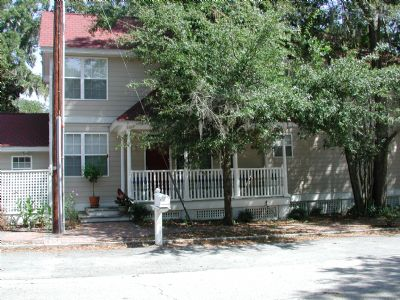 Front-Street View of the Duplex in Port Royal South Carolina