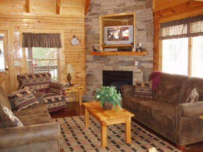 Spacious living room - relax and enjoy our gas fireplace