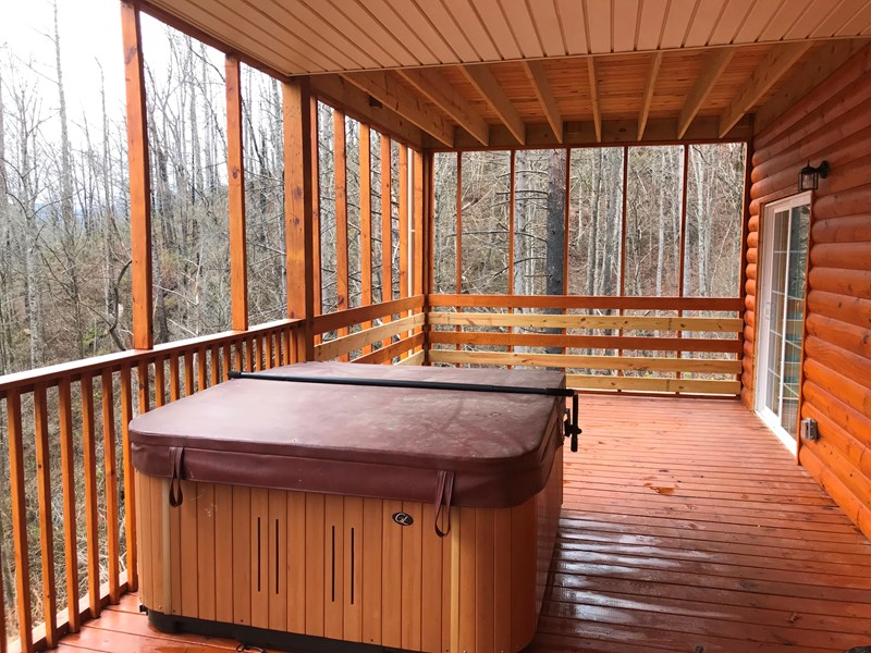 Hot Tub located on 1st Floor Deck