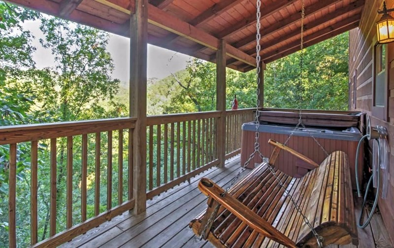 Enjoy the view from the deck and hot tub