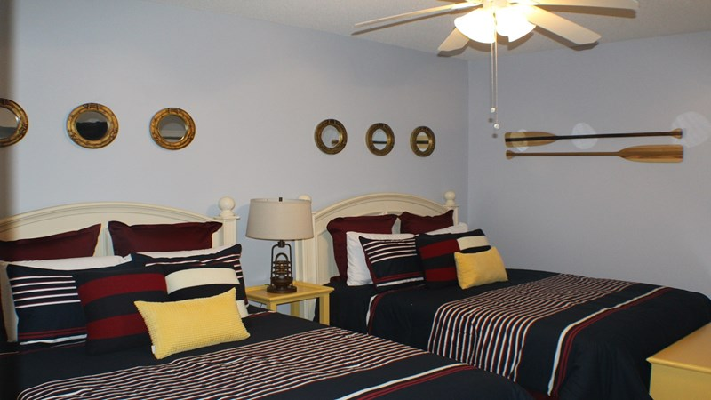 iew of Second Bedroom Furnished With 2 Queen Beds