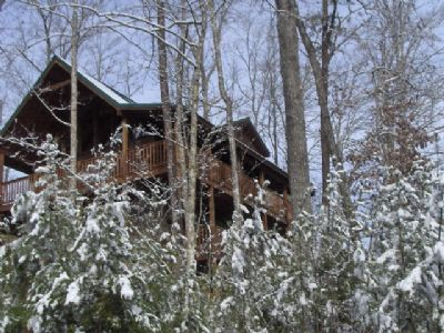 Snow at the Cabin!