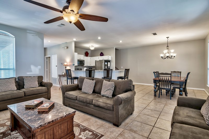 Living Room with 42 inch high def TV-Destin Florida 4 Bedroom Rental