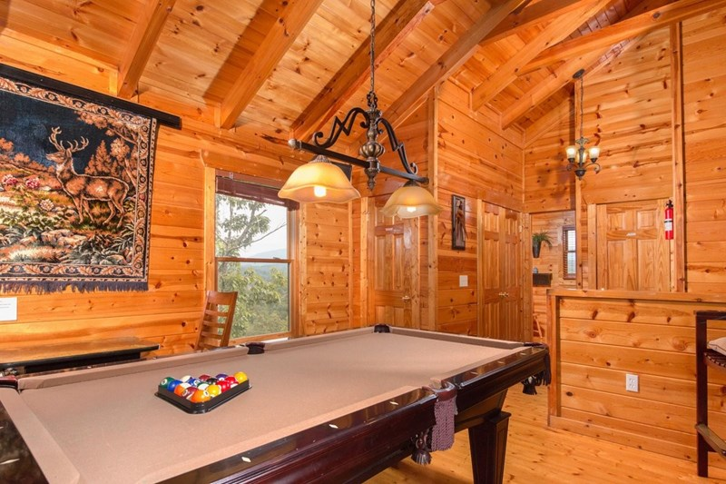 Billiard Room overlooks LR + VIEWS!