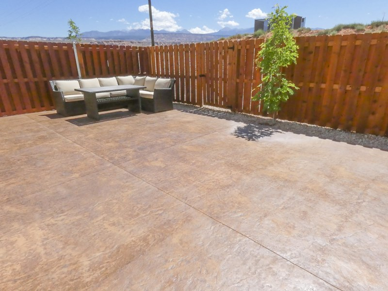 Back Patio With Views Of The LaSal Mountains