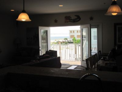 Gulf View from inside kitchen!