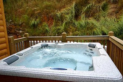 Outside secluded Hot tub with views