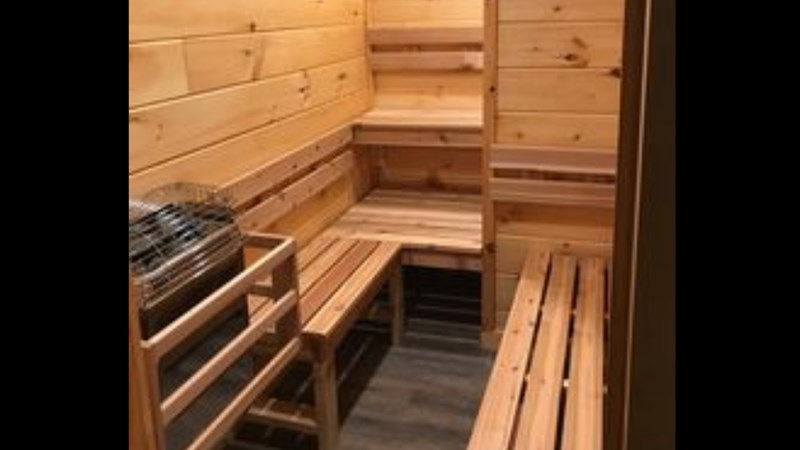 2nd Floor Dry Sauna large enough for 4 to 6 adults
