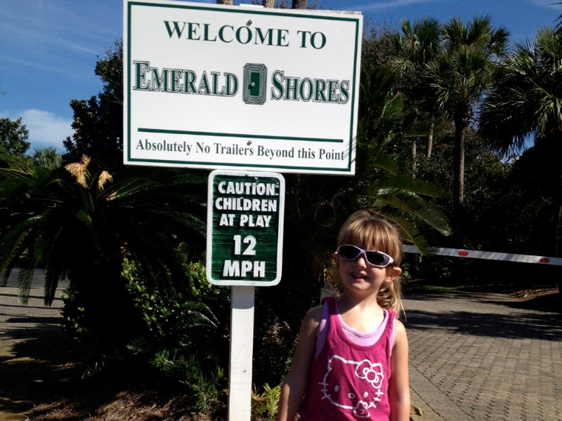 Gated entrance to Emerald Shores