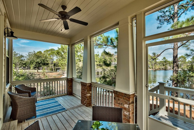 Quiet and Comfortable Screened porch with expansive Lake View