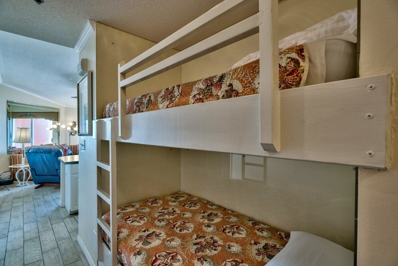 Bunks as you come in door