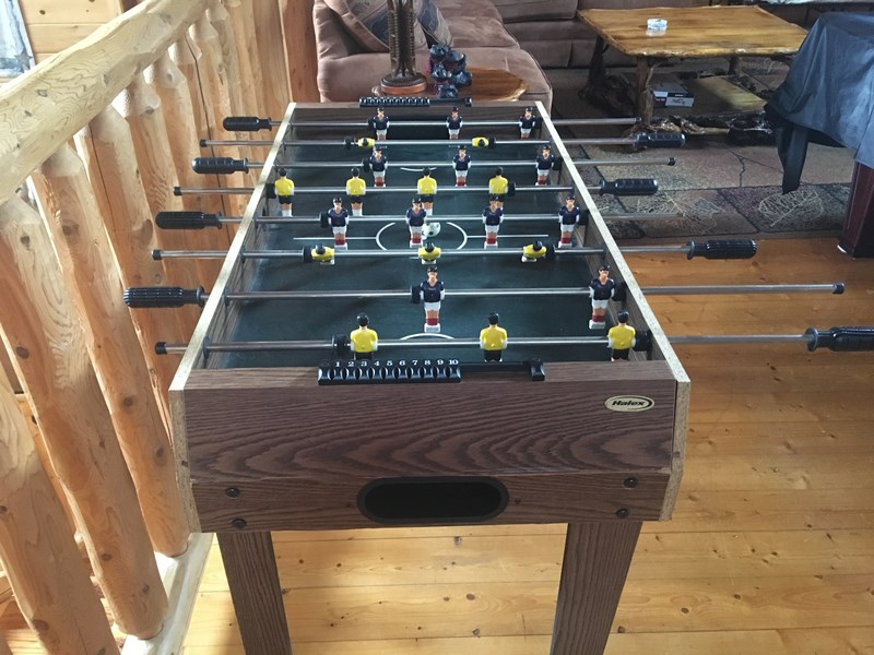 foos ball table in loft