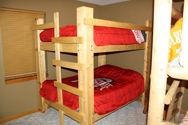 2 sets of bunk beds in downstairs bedroom