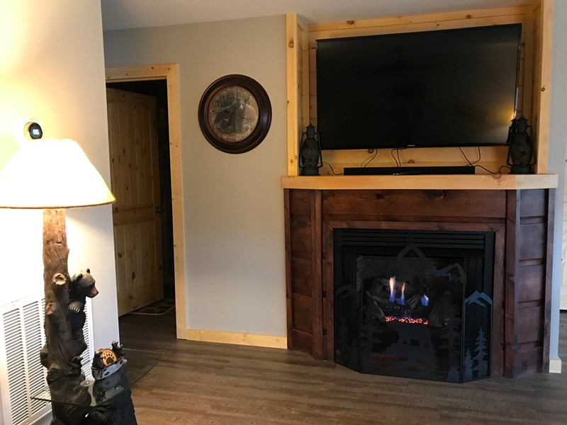 Gas Fireplace & nice sound system speaker w/65