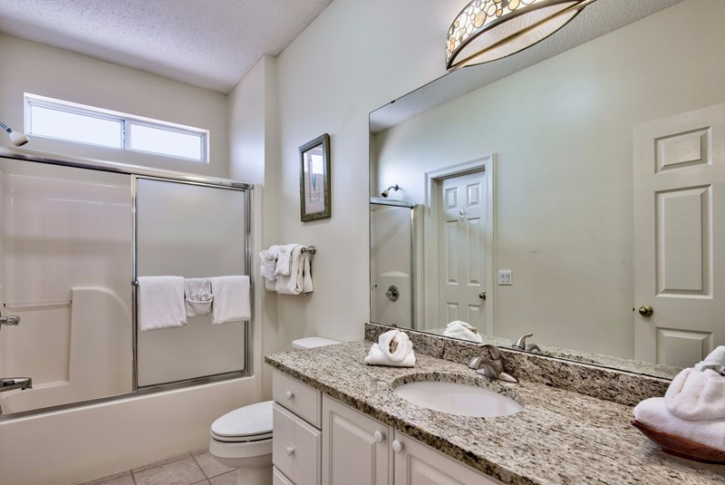 Guest bathroom with granite