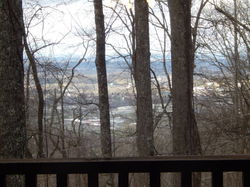 Winter View Of The City Of Pigeon Forge