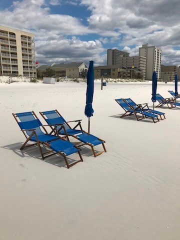 Beach Chair are available for rental on the beach.