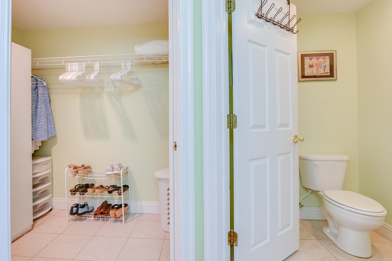 Master closet / privacy toilet