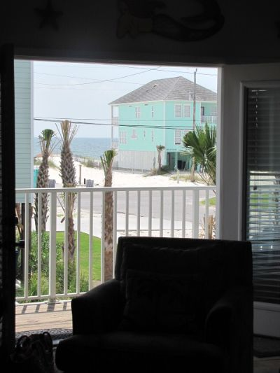 View of Gulf from Living Area Couch