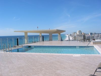 Roof Top Infinty Pool with views of Coastline