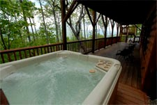 huge hot tub lower level