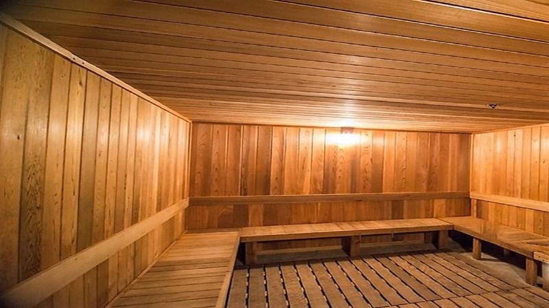 Large Dry Heat Sauna Part of the Fitness Center