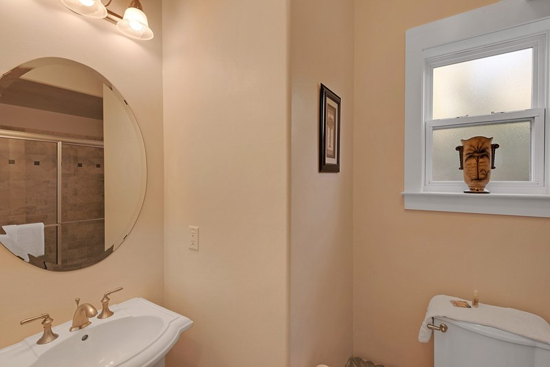 first floor bath w/ walk in shower
