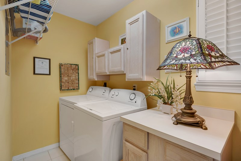 Laundry Room w/ Washer & Dryer