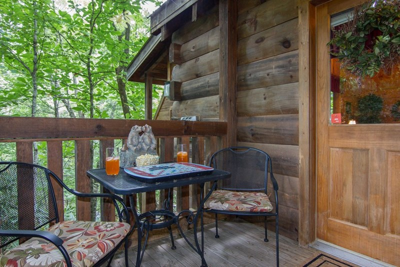 Front Deck of Cabin where you enter