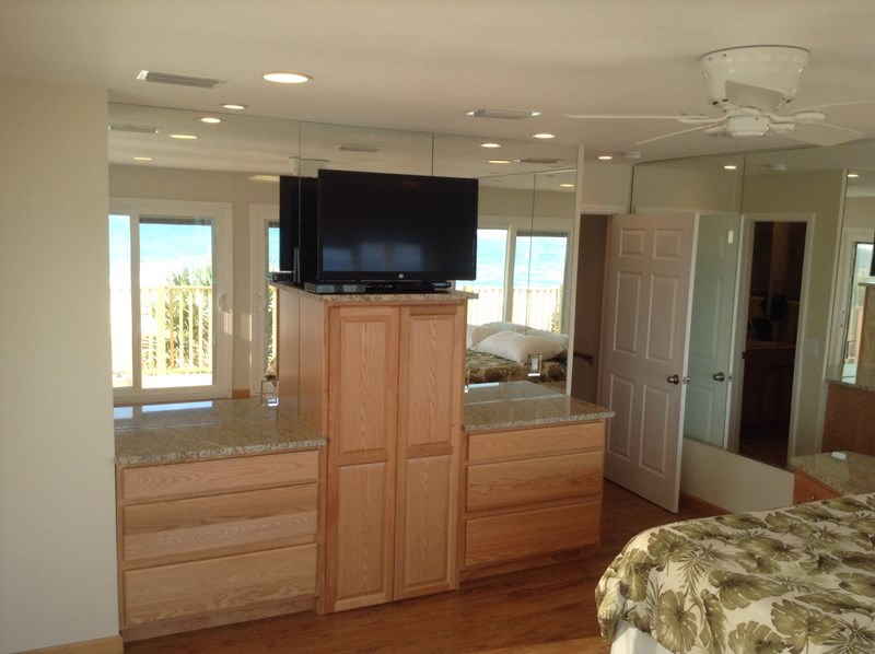 Built in granite dressers/tower in each bedroom