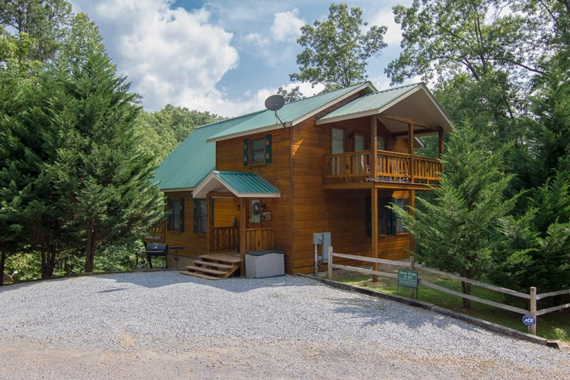 exterior of cabin- parking area