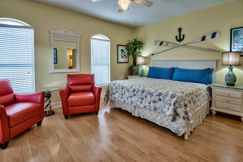 King Master Suite 3 on 2nd Floor with Private Balcony, 47 inch flat screen/dvd