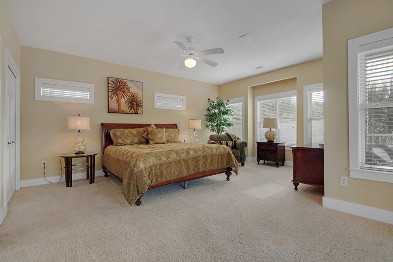 Master bedroom features king bed, gulf view, access to balcony and ensuite bath