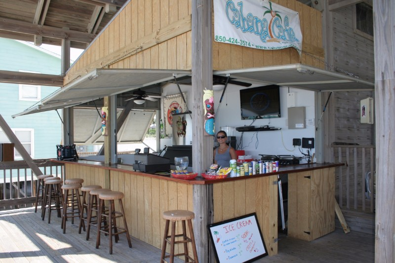 Cabana Cafe and Bar located on our private beach pavilion