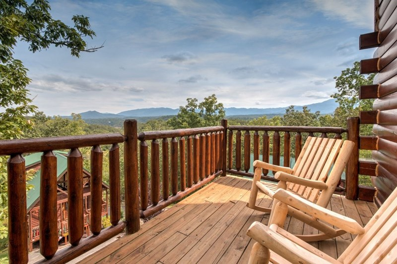 Upper Main Deck. Views! Rockers. Picnic Tables.