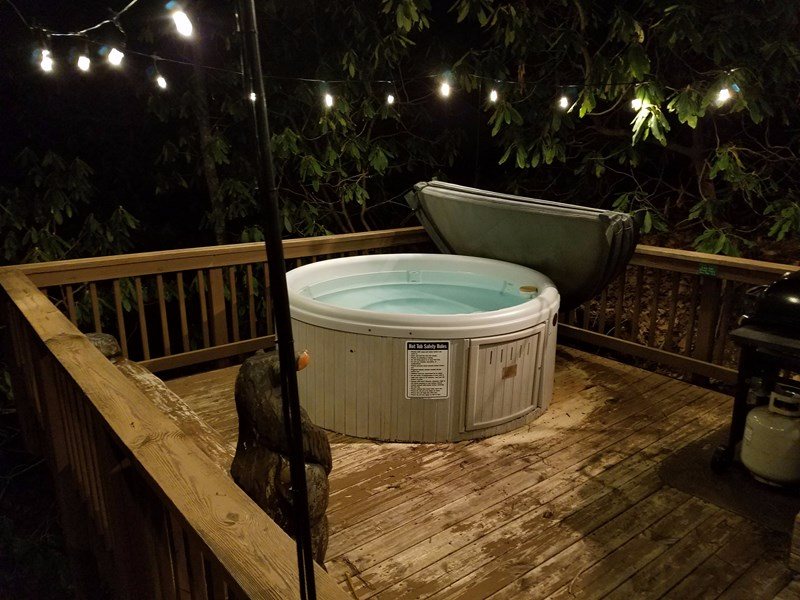 Night view of your hot tub deck !!!
