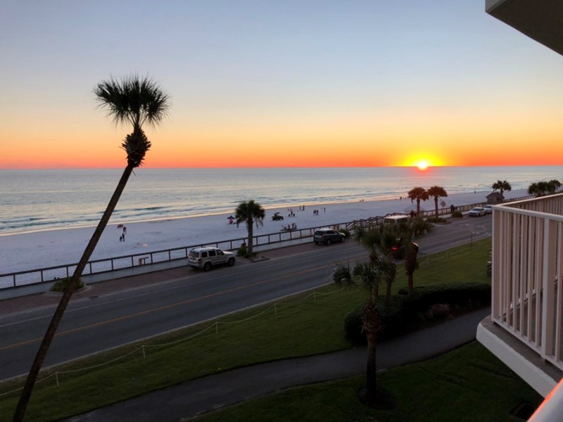 Beautiful sunset views from your own balcony!