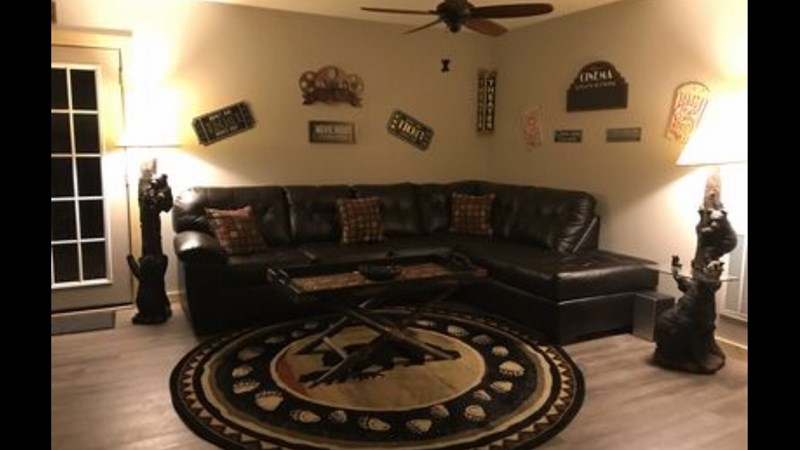 1st Floor Living Room, Great for Movie Time