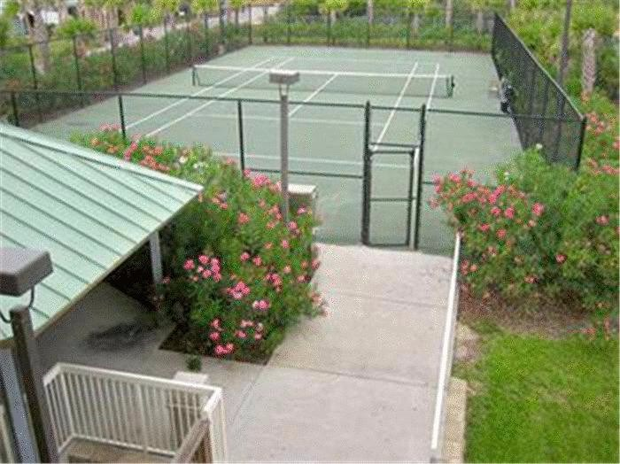 Celadon tennis court and one of the picnic areas