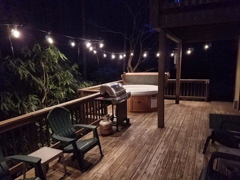 Night time on the hot tub deck !!!