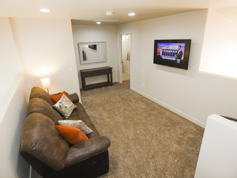 Upstairs Bonus Room With Flat Screen TV