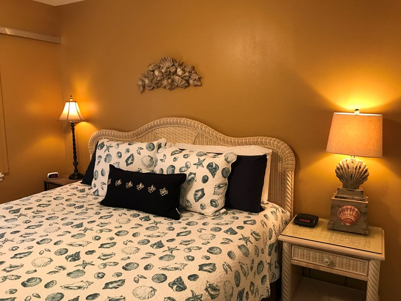 Very comfortable king size bed in the bedroom.