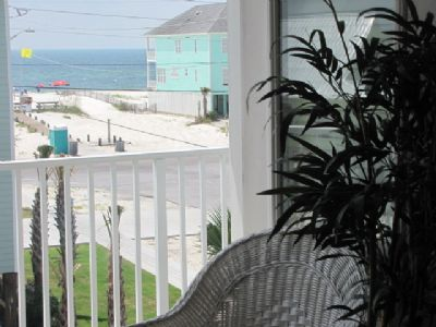 View of the Gulf and Beach Access from King Suite #1