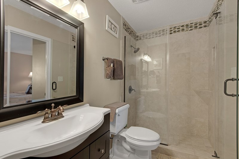 Bath can be accessed from Master bedroom or hall.