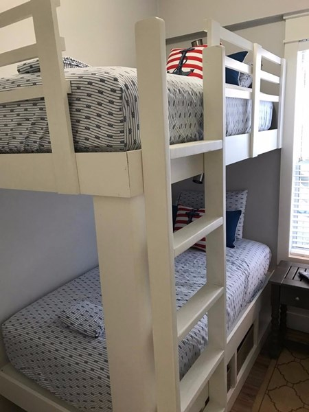 NEW twin bunk bed mattresses added 2016, wall mount TV