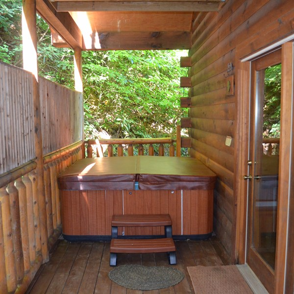 4 Person Hot Tub on Bedroom Back Deck
