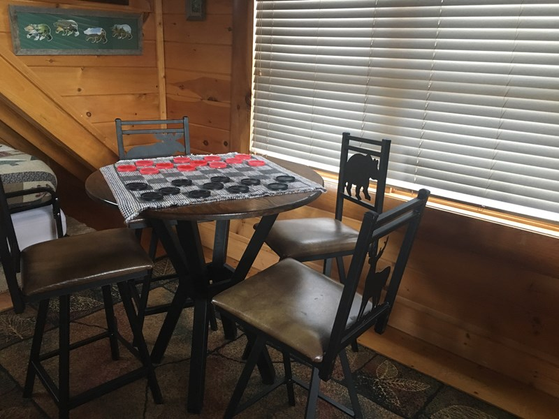 pub table in loft