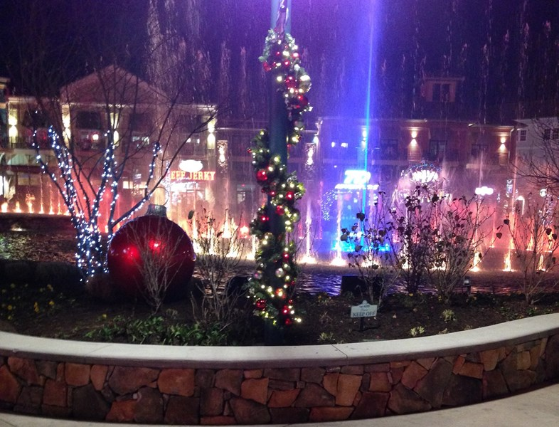 Christmas at The Isle - beautiful fountain