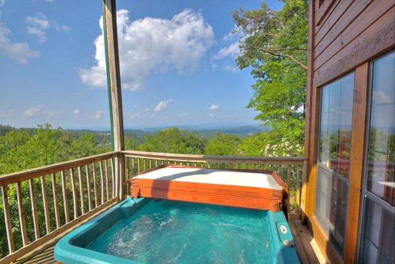 Relax in your hot tub and enjoy the amazing views
