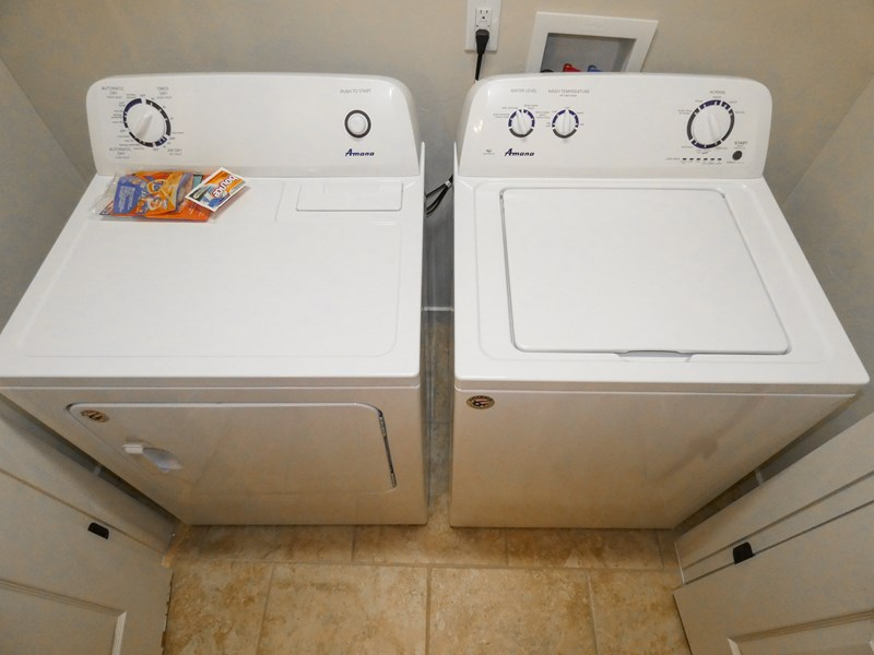 Washer & Dryer | Detergent Included